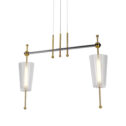 Copper Grove Guachara 29-inch Integrated LED Linear Pendant Lighting