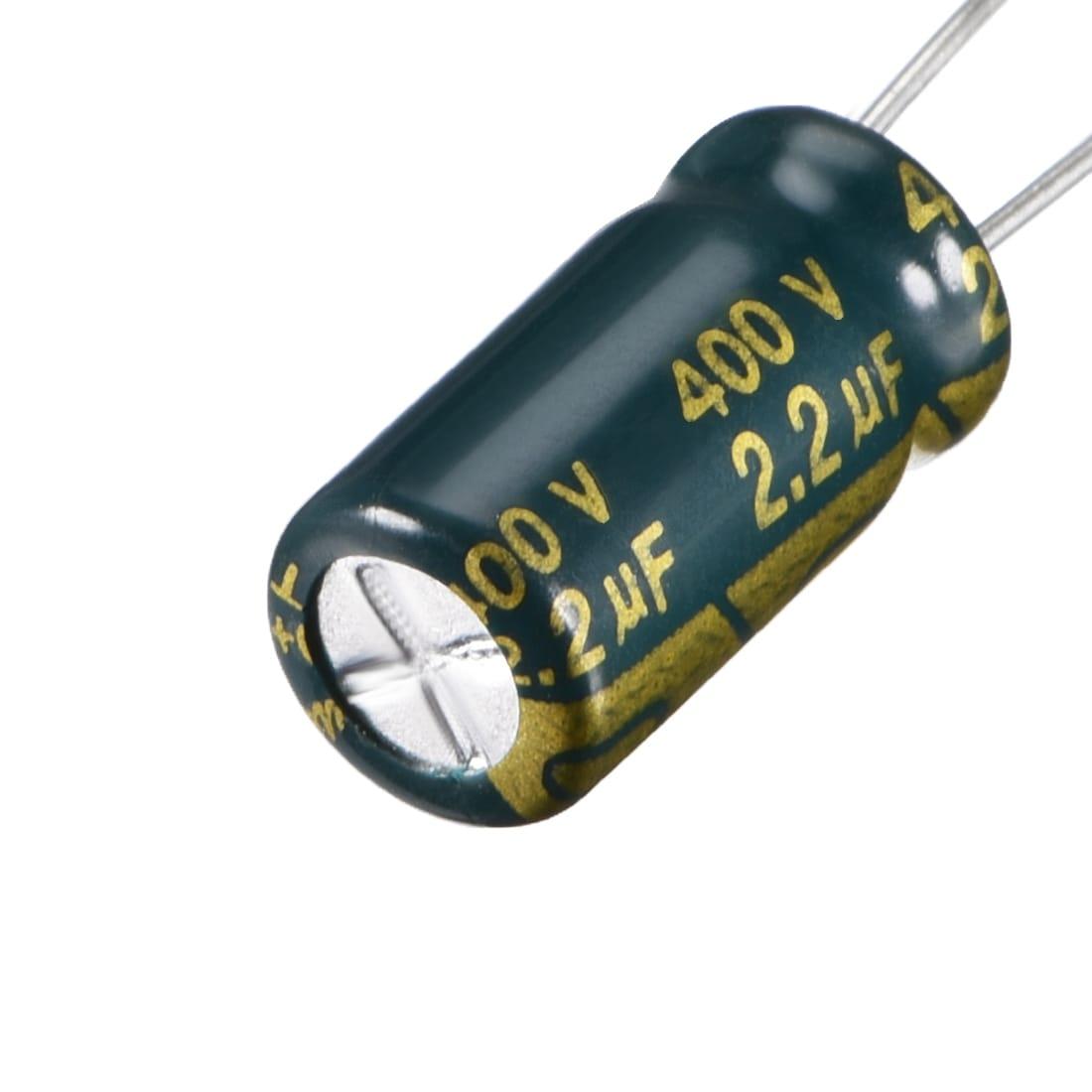 50 PCS 2.2UF//400V 8x12mm 105°C Radial Electrolytic Capacitors 400V 2.2UF