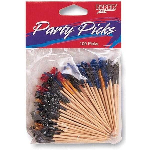 """Party Picks 2.5"""" 100/Pkg-Assorted Colors"""