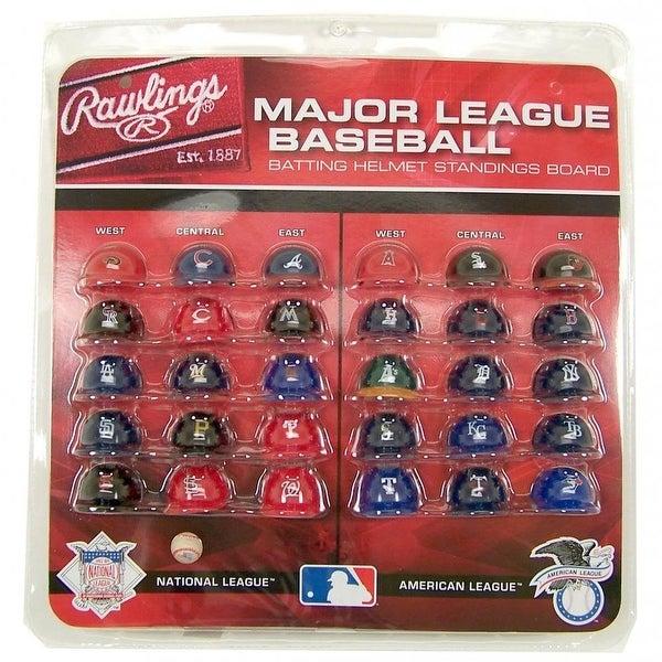 MLB Major League Baseball Batting Helmet Standings Board with All 30 MLB  Teams