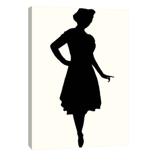 """PTM Images 9-108915  PTM Canvas Collection 10"""" x 8"""" - """"Fashion Icon Series 1950's #1"""" Giclee Silhouettes Art Print on Canvas"""