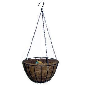 "Panacea 88500 Hanging Basket with Liner, 12"", Green"