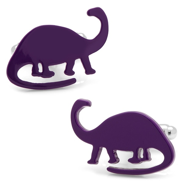 Purple Brachiosaurus Cufflinks