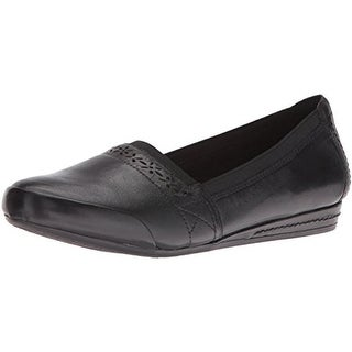 Rockport Womens Gigi Flats Leather Slip On - 7 narrow (aa,n)