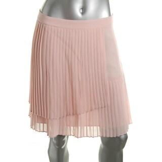 Vince Camuto Womens Chiffon Faux-Wrap Pleated Skirt - 4