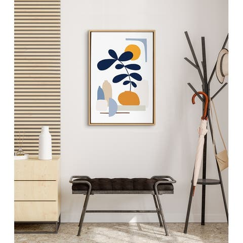 Kate and Laurel Sylvie The Shapes of Nature Framed Canvas by Dominique Vari