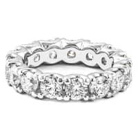 4.80 CT.TW Round Diamond Eternity Ring in 14KT White gold - White H-I