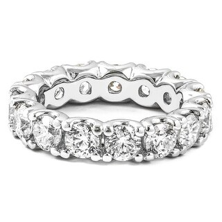 4.80 CT.TW Round Diamond Eternity Ring in 14KT White gold - White H-I