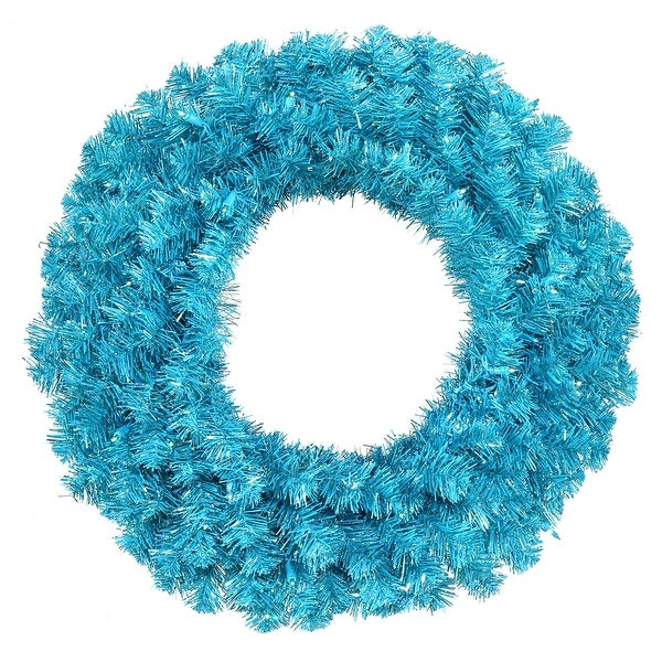 "30"" Sky Blue Wreath 70Teal Lts 260T"