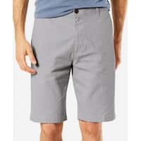Dockers Gray Mens Size 42 Classic-Fit Stretch Button-Front Shorts