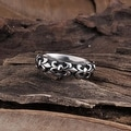 Vienna Jewelry French Emblem Stainless Steel Ring - Thumbnail 0