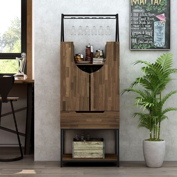 Furniture of America Marcus Contemporary Multi-storage Wine Cabinet. Opens flyout.