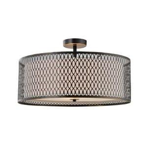 Woodbridge Lighting 16635 3 Light Semi-Flush Ceiling Fixture from the Spencer Collection
