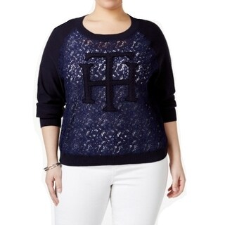Tommy Hilfiger NEW Navy Blue Women's Size 1X Plus Knitted Sweater