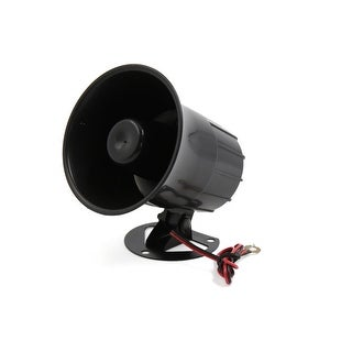 DC 12V 20W One Tone Loud Electric Car Speaker Alarm Siren Air Horn Black