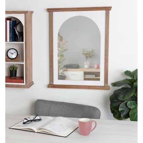 Kate and Laurel Brenna Wood Framed Arch Wall Mirror - 22x28
