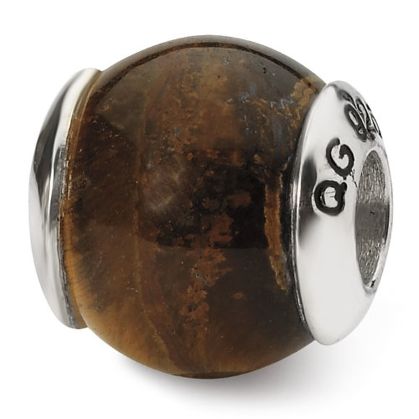 Sterling Silver Reflections Tiger's Eye Stone Bead (4mm Diameter Hole)