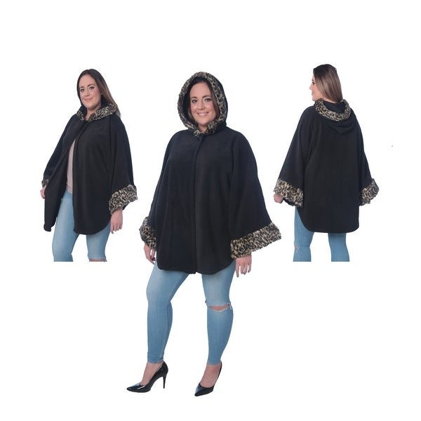 Jackpot Cozy Cape Coat with The Hoodie