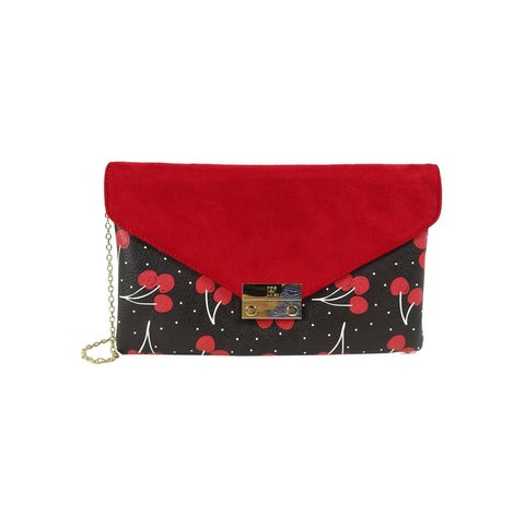 INC International Concepts Zitah Foldover Clutch, Only at Cherry Red - Multi - One size