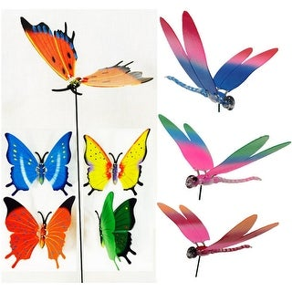 Butterfly and Dragonfly Garden Stake Decoration -  48 Units