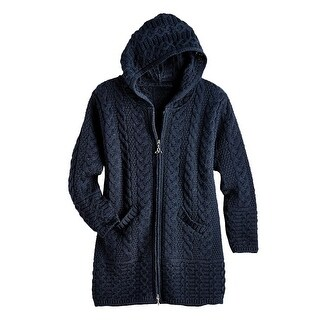 Women's Brigid Hooded Aran Cardigan (More options available)