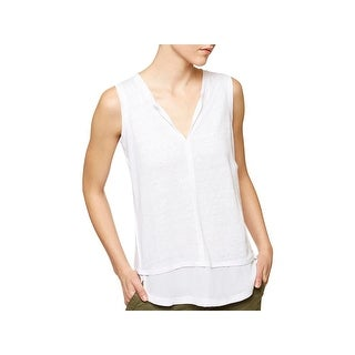 Sanctuary Womens City Tank Top Burnout Chiffon Trim