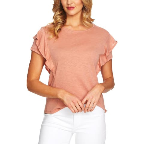 CeCe Womens Blouse Tiered Ruffle Sleeves