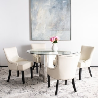 Link to Safavieh Loire Leather Nailhead Dining Chairs (Set of 2) Similar Items in Dining Room & Bar Furniture