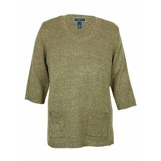 Karen Scott Women's V-Neck Marled Tunic Sweater