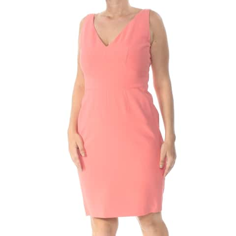 NARCISO RODRIGUEZ Womens Coral Sleeveless Knee Length Dress Size 14