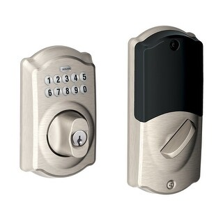 Schlage BE369NX CAM619 Home Keypad Deadbolt with Z-Wave Technology, Satin Nickel