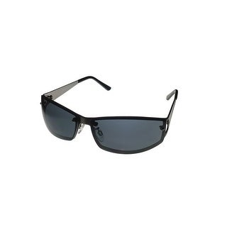 Timberland Mens Sunglass Gunmetal, Metal Rimless Rectangle Smoke Lens TB7107 20A - Medium