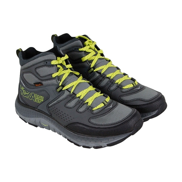 quality design 44d2d 9779d Hoka One One Tor Tech Mid Wp Mens Gray Textile Athletic Hiking Shoes
