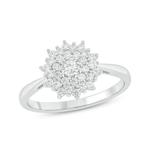 Cali Trove 925S Sterling Silver with 1/2 ct TDW Fashion Ring.