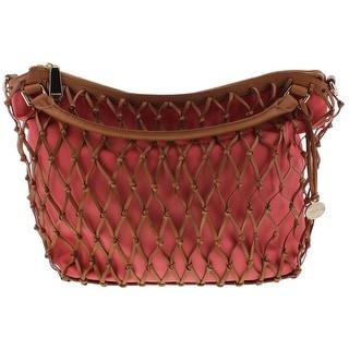 Brahmin Womens Norah Tote Handbag Lined Convertible - Grapefruit - Large