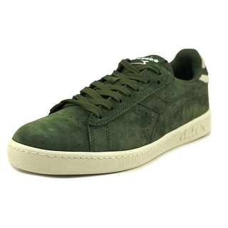 Diadora Game Low S Men  Round Toe Suede Green Sneakers