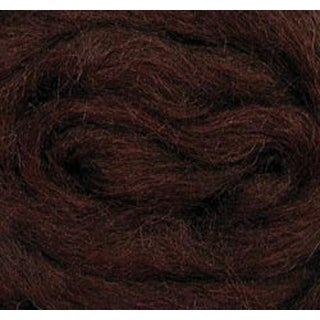 "Chocolate - Wool Roving 12"" .22Oz"