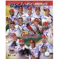 Signed Cardinals St Louis 2005 8x10 By the 2005 St Louis Cardinals Reggie Sanders Mark Grudzielanek