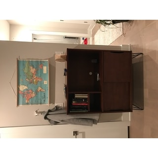 Shop Carson Carrington Retro Clifford Media Bookshelf Console   Free  Shipping Today   Overstock.com   10382878