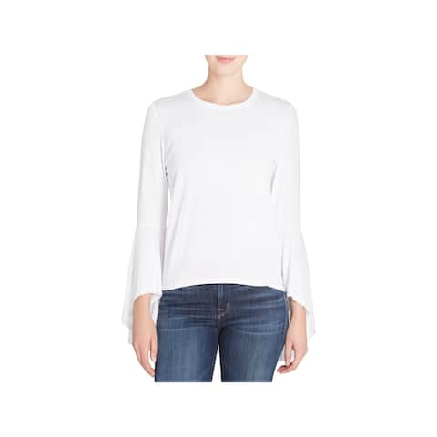 CATHERINE CATHERINE MALANDRINO Womens Casual Top Bell Sleeves Pullover