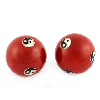 Yin-Yang Pattern Chinese Baoding Exercise Stress Relief Healthy Ball Pair