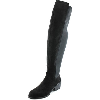 Charles By Charles David Rose Women Round Toe Suede Black Over the Knee Boot