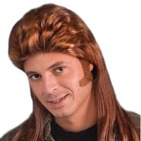Retro 80's Mullet Red Adult Costume Wig