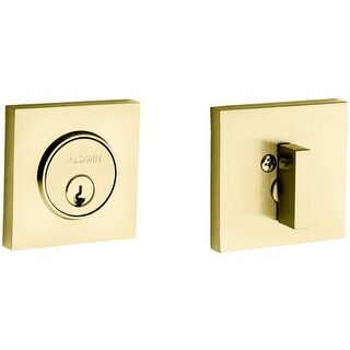 Baldwin 8220 Santa Monica Contemporary Square Single Cylinder Deadbolt (More options available)