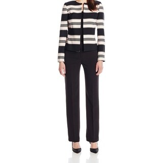 Tahari by ASL NEW Black Pink Women's Size 2 Striped Pant Suit Set