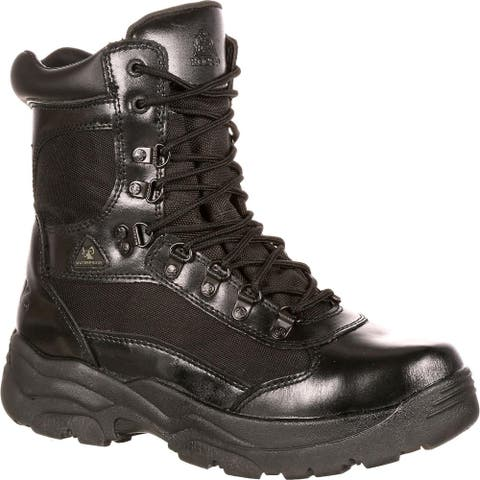 Only Online: Rocky Fort Black Waterproof Public Service Boots, FQ0002049