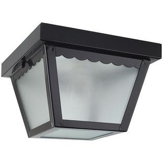 "Sunset Lighting F2400 1 Light Outdoor 8"" Wide Flush Mount Ceiling Fixture"
