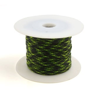 5mm x 100m Sheathing Expanding Braided Sleeving Cable Green Red for Car Auto