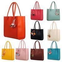 Women's Sweet Candy Colors Flowers Faux Leather Zipper Shoulder Bag Handbag