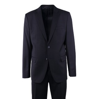 Versace Collection Mens Black Button Wool Front Two Pc Suit